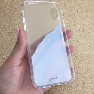 timeless design c1864 2d72b The Casery Blue and Pink Agate iPhone X Case New NWT